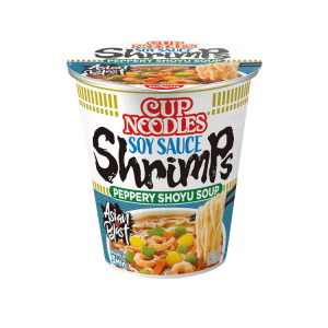 Cup Noodles with soy sauce shrimps