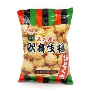 Hitokuchi Kabukiage saldžiasūriai ryžių krekeriai