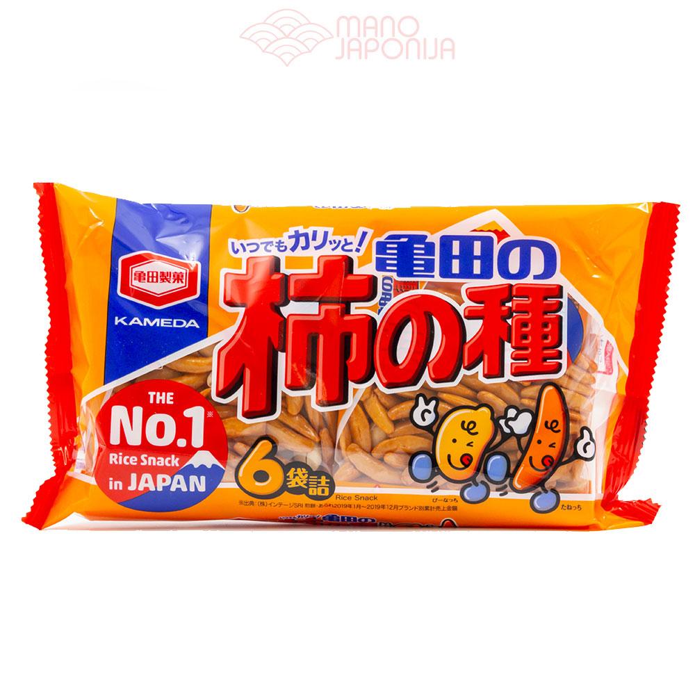 Japoniški ryžių krekeriai su riešutais