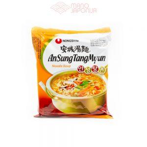 VEGAN AnSungTangMyun aštraus miso makaronų sriuba