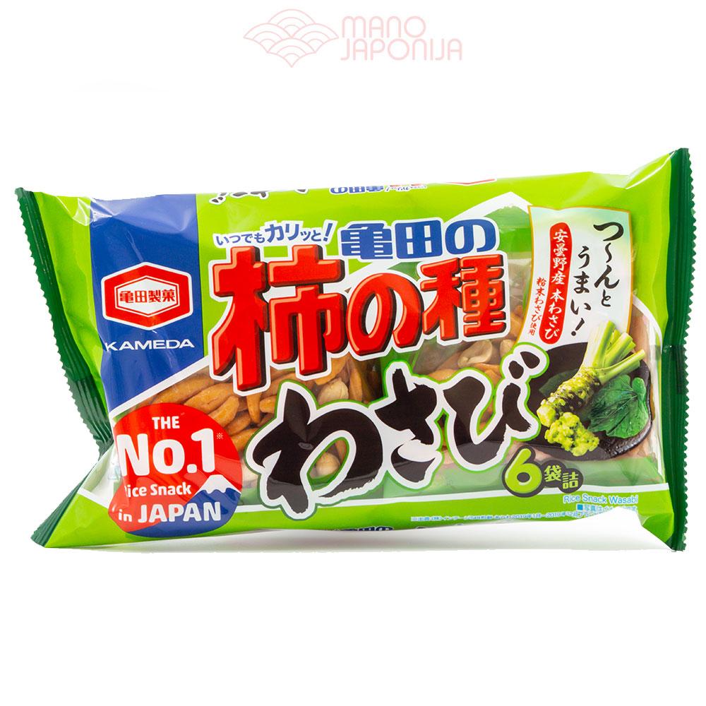 Japoniški ryžių krekeriai su riešutais WASABI