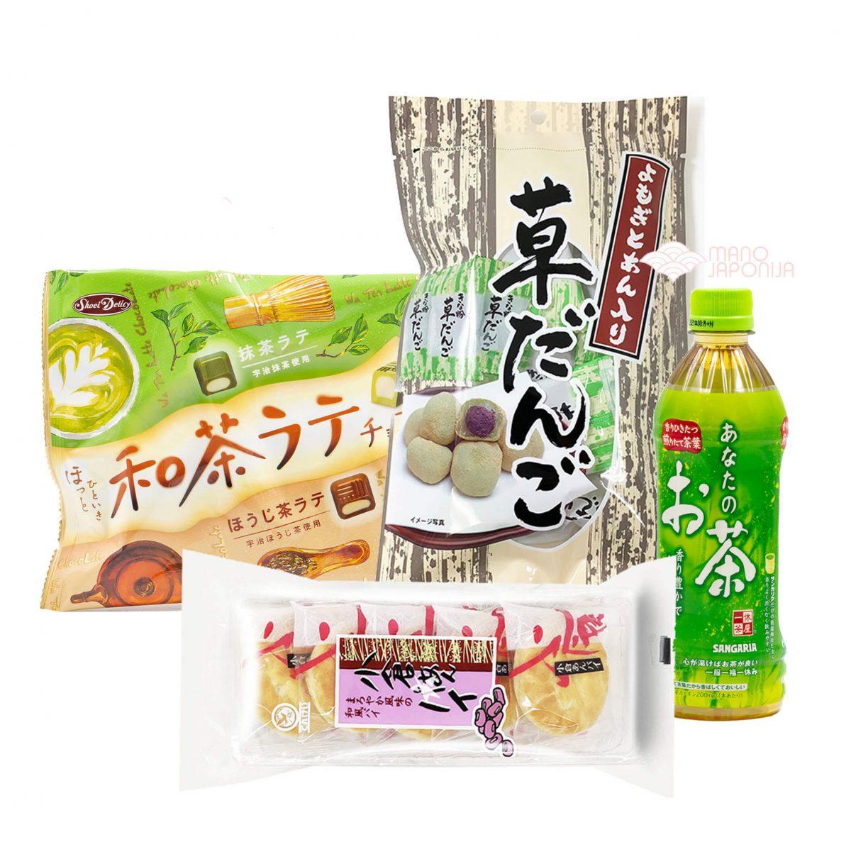 japonisku saldumynu rinkinys